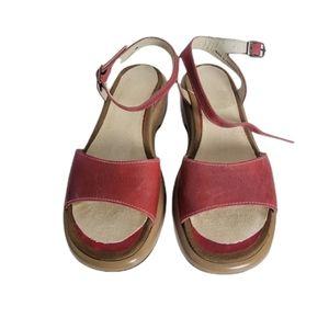 Dansko Leather Open Toe Ankle Strap